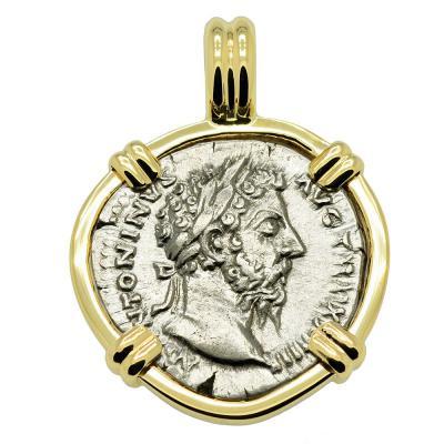 Emperor Marcus Aurelius Denarius Pendant