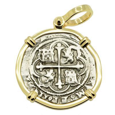 SOLD King Philip II Spanish 1 Real Pendant. Please Explore Our Spanish Treasure Pendants For Similar Items.