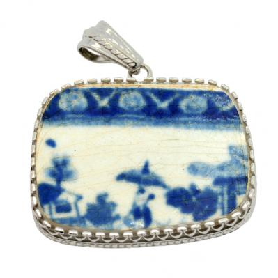 SOLD Caribbean Shipwreck Pottery Pendant. Please Explore Our Pottery Pendants For Similar Items.