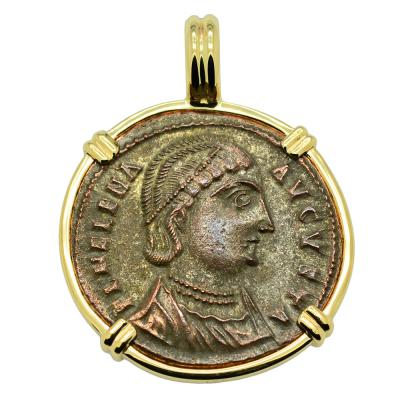 Alexandria AD 325–326, Saint Helena coin in gold pendant