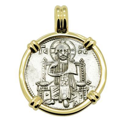 Venice 1268-1275, Jesus Christ grosso in gold pendant