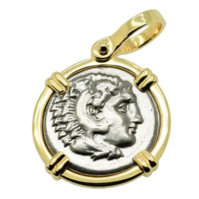 325-323 BC, Alexander the Great coin in gold pendant