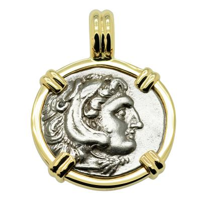 323-317 BC, Alexander the Great coin in gold pendant