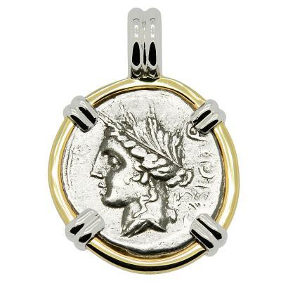 102 BC Ceres Earth Mother denarius coin