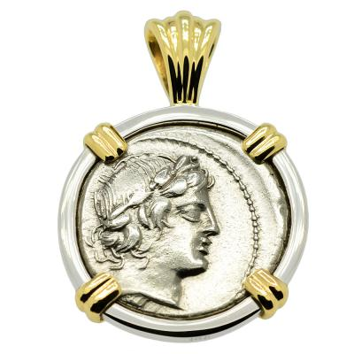 Apollo and Satyr Denarius Pendant