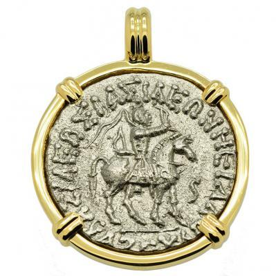 King Azes & Athena Tetradrachm Pendant