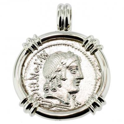 SOLD Apollo & Cupid Denarius Pendant; Please Explore Our Roman Pendants For Similar Items.