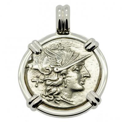Roma and Victory Denarius Pendant