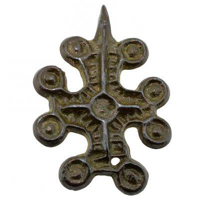 SOLD Byzantine Bronze Cross Pendant. Please Explore Our Byzantine Category For Similar Items.