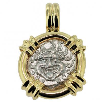 Gorgon Drachm Pendant