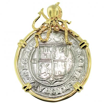 SOLD Golden Fleece Shipwreck 4 Reales Pendant; Please Explore Our Spanish Treasure Pendants For Similar Items.