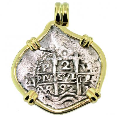 SOLD King Charles II Spanish 2 Reales Pendant; Please Explore Our Spanish Treasure Pendants For Similar Items.