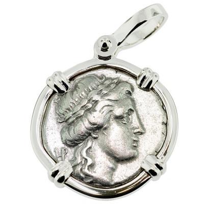 Ancient larissa greece apollo athena coin jewelry sold apollo athena drachm pendant please explore our greek pendants for similar items audiocablefo
