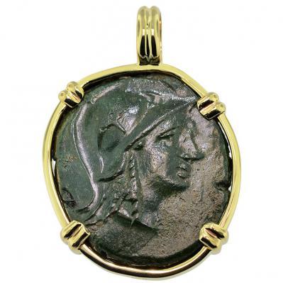 Athena and Trophy Pendant. Please Explore Our Greek Pendants For Similar Items.