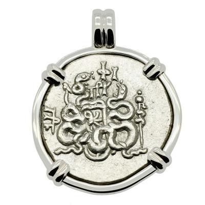 Cista Mystica Tetradrachm Pendant