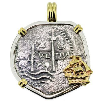 SOLD Consolacion Shipwreck 2 Reales Pendant; Please Explore Our Spanish Shipwreck Pendants For Similar Items.