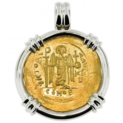 Angel and Tiberius Solidus Pendant