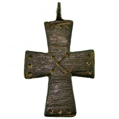 SOLD Byzantine Bronze Cross Pendant
