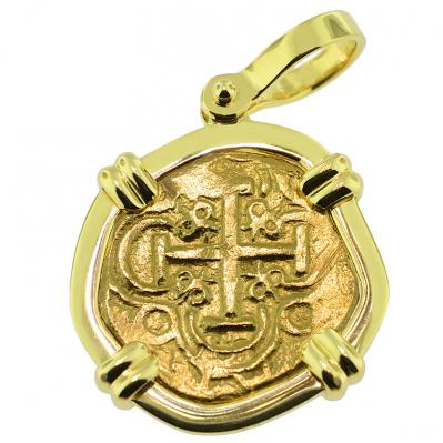 King Charles II Two Escudos Doubloon Pendant