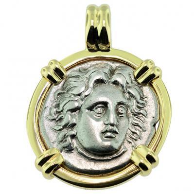 SOLD Helios Didrachm Pendant; Please Explore Our Greek Pendants For Similar Items.