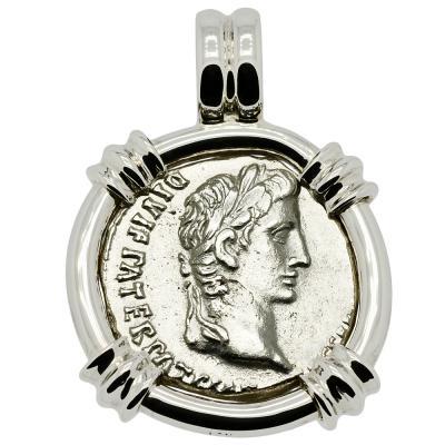 Caesar Augustus Denarius Pendant