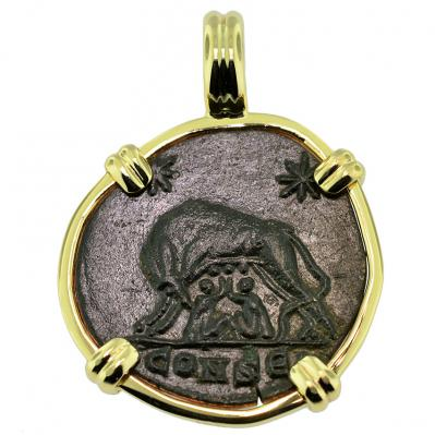 She Wolf and Roma Nummus Pendant