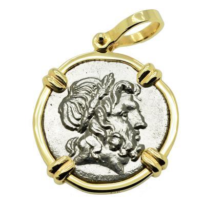 Ancient greek god zeus and athena coin pendant zeus athena stater pendant mozeypictures Gallery