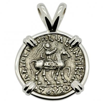 SOLD King Azes II & Athena Drachm Pendant; Please Explore Our Greek Pendants For Similar Items.