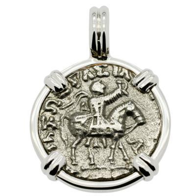 King Azes II and Zeus Drachm Pendant