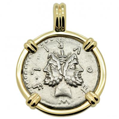 SOLD Janus and Roma Denarius Pendant; Please Explore Our Roman Pendants For Similar Items.