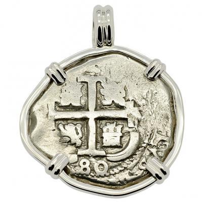 King Charles II Spanish 2 Reales Pendant