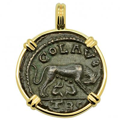 SOLD She Wolf and Tyche Pendant; Please Explore Our Roman Category For Similar Items.