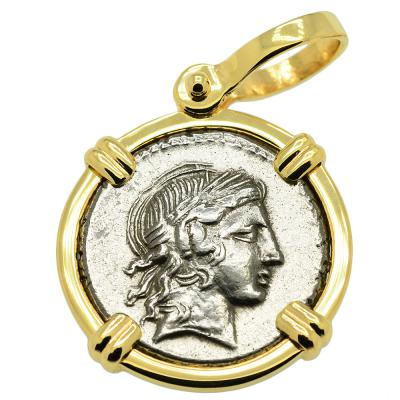 Apollo and Marsyas Denarius Pendant
