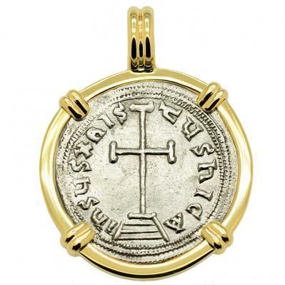 SOLD Constantine VI Cross Miliaresion Pendant; Please Explore Our Byzantine Pendants For Similar Items.