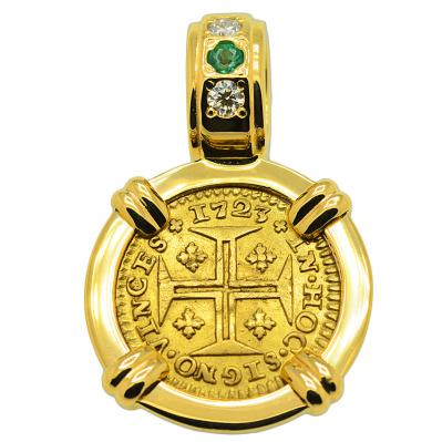 SOLD Portuguese 400 Reis Pendant; Please Explore Our Gold Coin Pendants For Similar Items.
