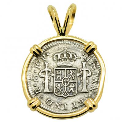 SOLD El Cazador Shipwreck Half Real Pendant; Please Explore Our Spanish Treasure Pendants For Similar Items.