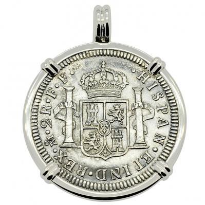 SOLD El Cazador Shipwreck 2 Reales Pendant; Please Explore Our Spanish Treasure Pendants For Similar Items.