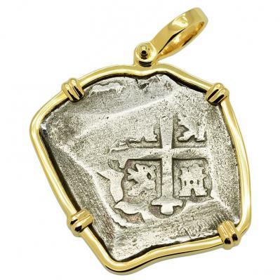 SOLD Spanish 1715 Fleet Shipwreck 4 Reales Pendant; Please Explore our Spanish Treasure Pendants for Similar Items.