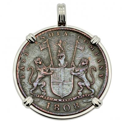 SOLD Admiral Gardner Shipwreck Coin Pendant; Please Explore Our Colonial Pendants For Similar Items.