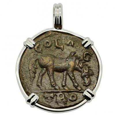 SOLD Horse and Tyche Pendant; Please Explore Our Roman Category For Similar Items.