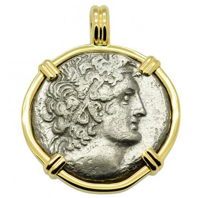 SOLD Egyptian Shipwreck Tetradrachm Pendant. Please explore our Egyptian Shipwreck Category for Similar Items.