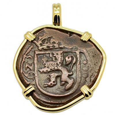 King Philip IV Eight Maravedis Pendant