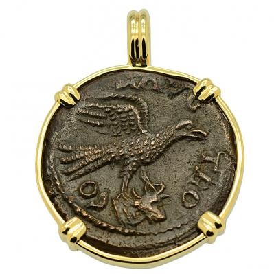 SOLD Eagle and Tyche Pendant; Please Explore Our Greek Pendants For Similar Items.