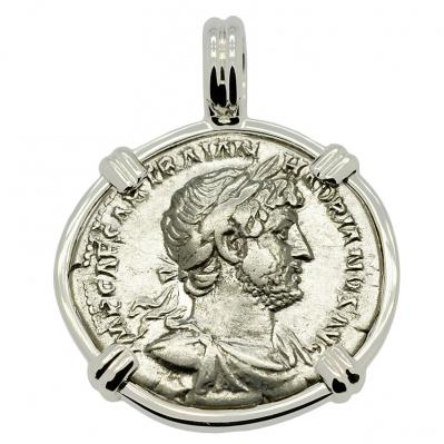 SOLD Emperor Hadrian Denarius Pendant. Please Explore Our Roman Pendants For Similar Items.