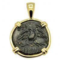 SOLD Owl & Athena Pendant; Please Explore Our Greek Pendants For Similar Items.