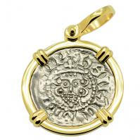 SOLD King Henry III Penny Pendant; Please Explore Our Medieval Pendants For Similar Items.