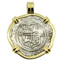 SOLD Johanna & Charles Spanish 2 Reales Pendant; Please Explore Our Spanish Treasure Pendants For Similar Items.