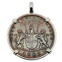 SOLD Admiral Gardner Shipwreck Coin Pendant. Please Explore Our Colonial European Pendants For Similar Items.