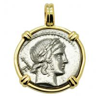Apollo & Horseman Denarius Pendant