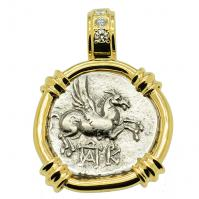 SOLD Pegasus & Dionysus Didrachm Pendant; Please Explore Our Greek Pendants For Similar Items.